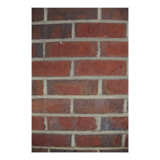 brick wall texture print
