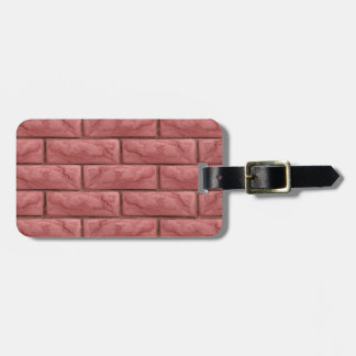 Brick Wall Texture Seamless Background Luggage Tag