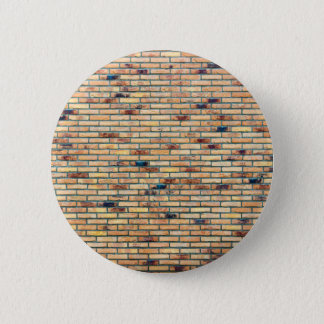 Brick wall with several colors 2 inch round button
