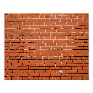 Brick Wall with Your Name on it Rectangular Poster