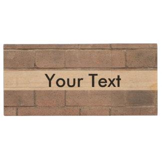 Brick Wall Wood USB Flash Drive