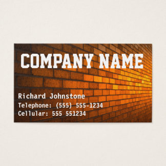 Bricklayer or Mason's builders Business Card