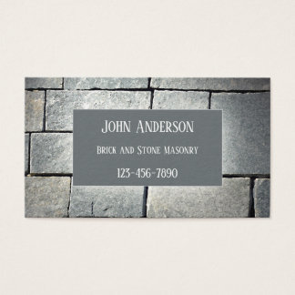 Bricklayer Stone Masonry Business Card