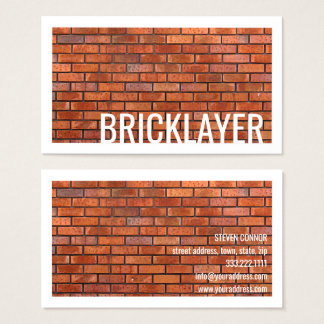 Bricklayer Stone Masonry White Border Card