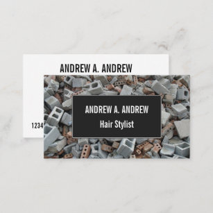 Demolition business cards profile cards zazzle ca bricks blocks demolition rubble debris business card colourmoves
