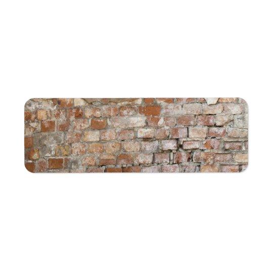 Bricks old wall return address label