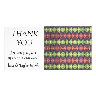 Bricks pattern abstract design photo greeting card