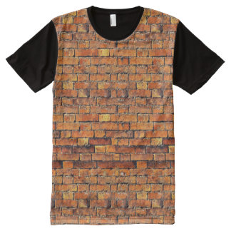 Brickwork All-Over-Print T-Shirt