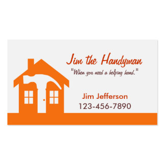 Bricoleur carte de visite à la maison d orange de
