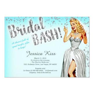 Bridal Bash Vintage Pinup Bride Bachelorette Party Card