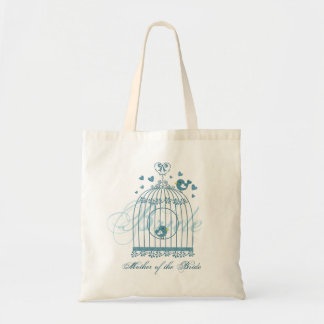 Bridal Bird Cage Wedding Party Gift Tote Bag