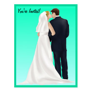 BRIDAL BLISS - Turquoise Postcard