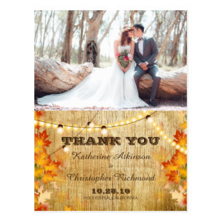Bridal Bouquet Red Flowers/fall theme Postcard