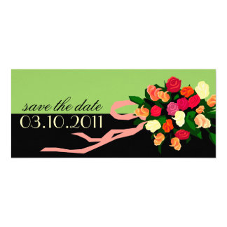 Bridal Bouquet Save the Date Announcement