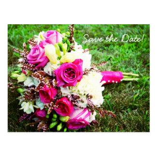 Bridal Bouquet Save The Date Postcard