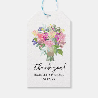 Bridal Bouquet Wedding Favor Tags