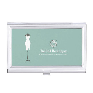 Bridal Boutique - Choose your background color Case For Business Cards