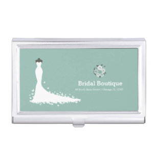 Boutique business card holders boutique business card cases bridal boutique choose your background colour business card holder reheart Gallery
