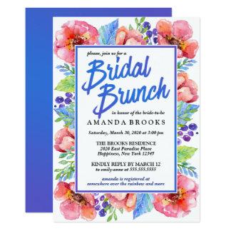 Bridal Brunch Floral Modern Wedding Watercolor Card