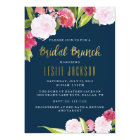 Bridal Brunch Shower Invitation Navy and Gold