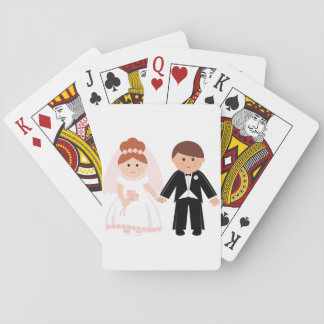 Bridal Couple Playing Cards