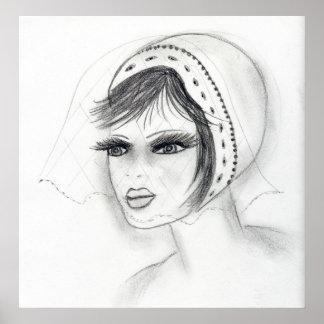 Bridal Deco Girl Poster