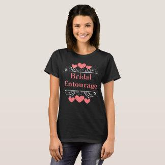 Bridal Entourage Heart Tee~Coral Salmon T-Shirt