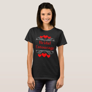 Bridal Entourage Heart Tee~Red T-Shirt