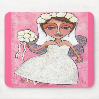 Bridal Fairy & Roses - mousepad