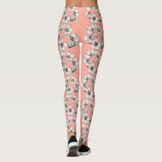BRIDAL-FLORAL-BOUQUET- PEACH(c)--LEGGING'S_XS-XL Leggings