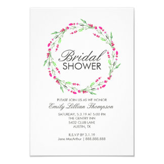 Bridal Floral Wreath Shower Invite