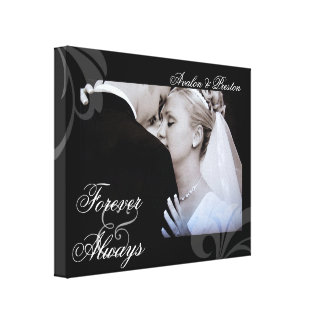 Bridal Forever & Always Add Your Photo Canvas Stretched Canvas Print