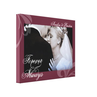 Bridal Forever & Always Rose Your Photo Canvas Stretched Canvas Print