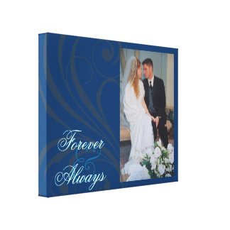 Bridal Forever & Always Scroll Photo Canvas Canvas Print