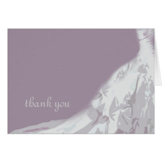 Bridal Gown Thank You Card, lavender Card