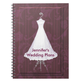 Custom bridal notebooks journals zazzle canada for The notebook wedding dress