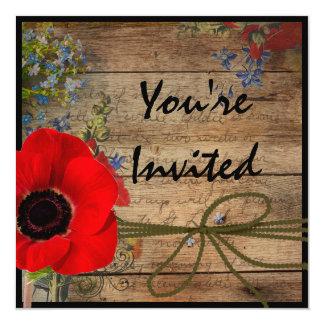 """Bridal Invitation 5.25"""" Square Invitation Card"""
