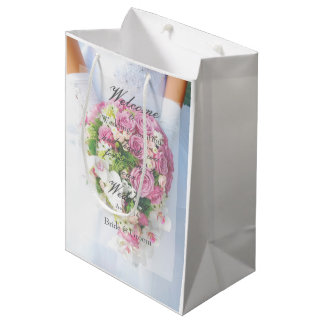 Bridal Lace Flower Bouquet Wedding Medium Gift Bag