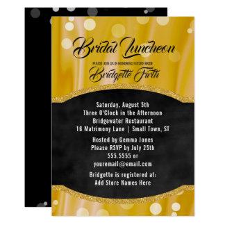 Bridal Luncheon   Elegant Gold Black Bridal Shower Card