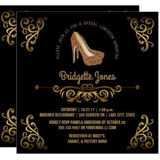 Bridal Luncheon Elegant Gold | Wedding Shower Card