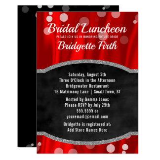 Bridal Luncheon   Elegant Red Black Bridal Shower Card