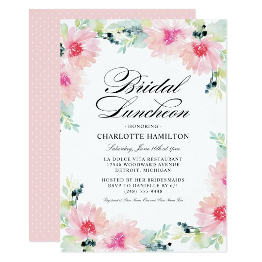 Bridal Luncheon Invitations | Daisy Watercolor