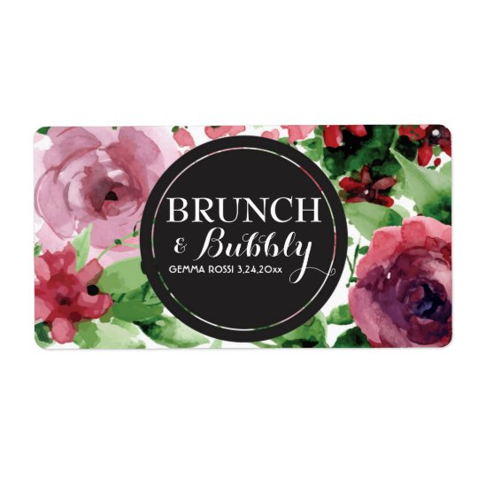 Bridal or Baby Shower Mini Champagne Label