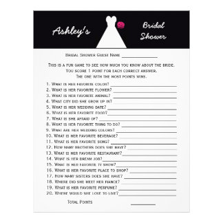 Bridal or Wedding Shower Party Game -- Bridal Gown Custom Letterhead