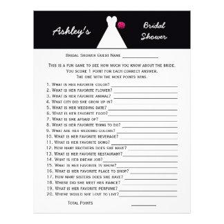 Bridal or Wedding Shower Party Game -- Bridal Gown Custom Letterhead
