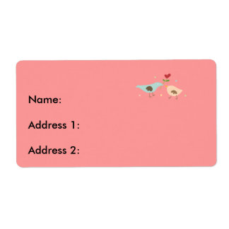 Bridal Partridges Shipping Label