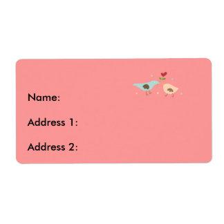 Bridal Partridges Shipping Label