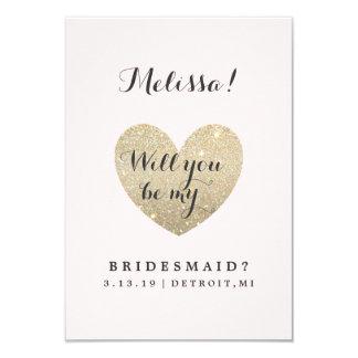 Bridal Party Card - Heart Fab