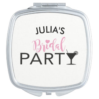 Bridal Party Custom Team Bride Cocktail Mirror Travel Mirror