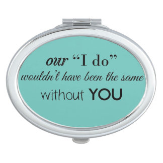 Bridal Party Favor Compact Travel Mirrors